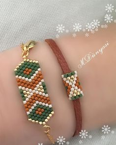Our Miyuki bracelet. - Our Miyuki bracelet. Loom Bracelet Patterns, Bead Loom Bracelets, Bead Loom Patterns, Beaded Jewelry Patterns, Beading Patterns, Beading Ideas, Beading Supplies, Bead Jewellery, Beaded Bracelets