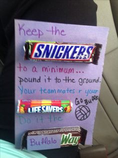 A good idea for a volleyball buddy!