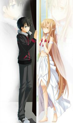 Sword Art Online, Kirito and Asuna. this shows Asuna trapped lol wont spoil the rest Sao Anime, Otaku Anime, Kunst Online, Online Art, Yui Sword Art Online, Bunka Pop, Tous Les Anime, Sword Art Online Wallpaper, Kirito Asuna