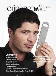 Foto de portada para la revista Bar Business. Drinksmotion. Javier Reynoso de Diageo.