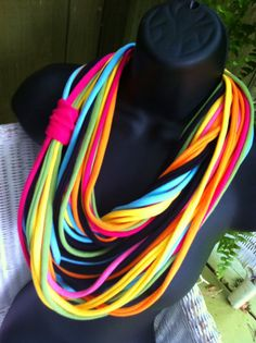 An Explosion of Color MAXI Length Jersey Scarf by marshflowers, $18.00
