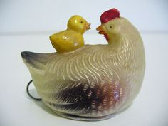 Vintage Hen w/Chicks Celluloid Tape Measure; Occupied Japan