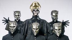 Ghost are mysterious backstage too - Metal Hammer