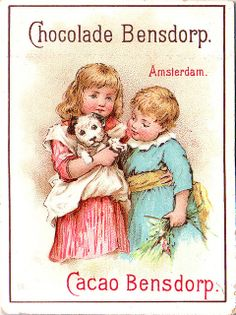♥chocolade bensdorp - two girl, one in pink holding puppy in her arms -19