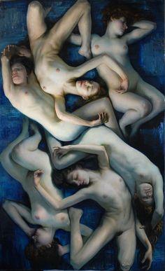 """Christopher Pugliese  """"El persistente sueño de la juventud / The Persistent Dream of Youth"""" Óleo sobre lienzo / oil on canvas, 120"""" x 72"""""""