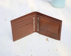 Your place to buy and sell all things handmade Brown Texture, Brown Wallet, Leather Wallet, Buy And Sell, Handmade, Stuff To Buy, Hand Made, Craft