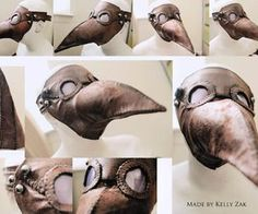 Plague Doctor Mask DIY -- Not difficult, just a lot of hand sewing.: