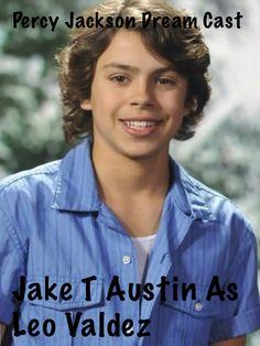 Percy Jackson dream cast. Jake T Austin as Leo.