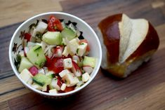 Chässalat On hot days in Switzerland, like in many other countries, people eat salad. But because it's Switzerland, sometimes a lot of cheese is involved. Need A Recipe, People Eating, Fruit Salad, Sausage, Dinner, Hot, Recipes, Switzerland, Lunch Ideas
