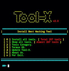 Tool-X - Un installateur d& de piratage Linux Kali - KitPloit – PenTest & Hacking Tools for your CyberSecurity Kit Tool: Tool-X – Un programme d& - Computer Forensics, Computer Programming, Computer Science, Learn Programming, Best Hacking Tools, Learn Hacking, Hacking News, Linux Mint, Kali Linux Hacks