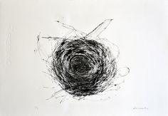 the red swallow · printmaking Elena Ortiz, Bristol