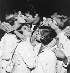 "31st July 1955, Elvis Presley performed 3 shows at Fort Homer Hesterly Armory in Tampa, Florida, (2 matinee and 1 evening). A full scale riot broke out after the show when Elvis announced to the 14,000 strong crowd, ""Girls, I'll see you backstage."" Fans chased Elvis into the dressing room, tearing off his clothes and shoes. More here on our Elvis facts page: http://www.thisdayinmusic.com/pages/elvis_facts"