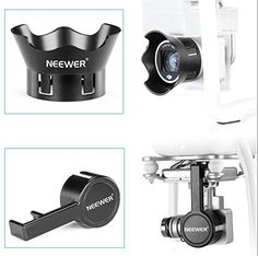 Neewer® for DJI Phantom 3 Standard, Professional, and Advanced Protective Camera Lens Cap Protector Cover + Flower-type Rose Petal Lens Hood Made of Premium ABS Plastic--Black Neewer http://www.amazon.com/dp/B015SLYAO2/ref=cm_sw_r_pi_dp_6VeMwb03JD9YG