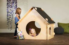 Chalkboard Playhouse - childhood cubby fun for indoors