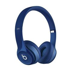 Beats by Dr. Dre Solo 2 On-Ear Headphones Blue ($200) ❤ liked on Polyvore featuring accessories and beats by dr. dre