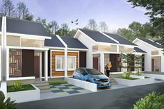 perumahan padasuka teraace bandung Story House, My House, Modern Minimalist House, Small Bungalow, Apartment Plans, Small House Design, Little Houses, House Plans, Real Estate