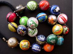 Ingrid Dijkers - bottle cap beads