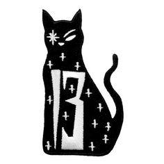 Killstar Lucky 13 kat patch zwart - Rock Metal Gothic Occult- Killstar