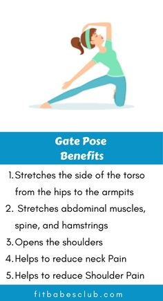 Gate Pose is an asana, which is an intermediate level backward bend. It is tough for beginners. If you are a beginner at yoga, Click the link to see some beginner's yoga poses. Meditation Benefits, Yoga Benefits, Yoga Poses For Beginners, Workout For Beginners, Fitness Workout For Women, Yoga Fitness, Yoga Cartoon, Dumbbell Workout At Home, Yoga Information