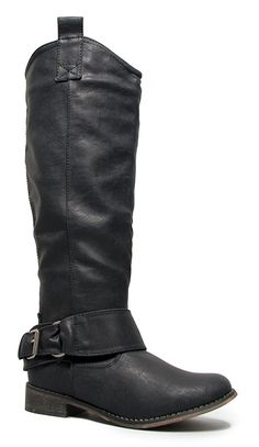 Breckelle's RIDER-16 Classic Buckle Knee High Riding Boot *** Details can be found by clicking on the image.