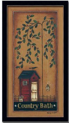 Country Bath Room Decor Folk Art Primitive Print Framed, http://www.amazon.com/dp/B001L15B3I/ref=cm_sw_r_pi_awdm_Mjt4sb0SF9H6R