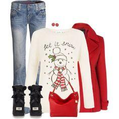 18 Comfortable Christmas Polyvore Combinations