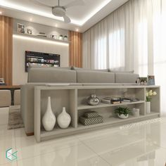 Living Room Decor Cozy, New Living Room, Home And Living, Tv Unit Interior Design, Interior Decorating, Modern Tv Room, Wood Burning Fireplace Inserts, Home Furniture, New Homes