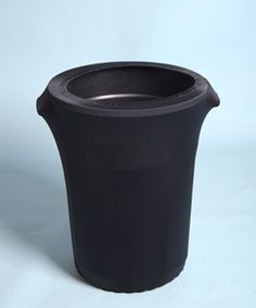 Trash Can Cover, Black Spandex