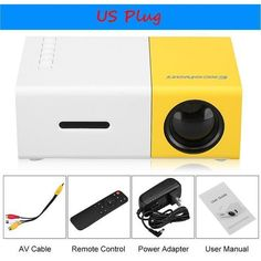 Ultra-Mini Portable LCD Projector Supports 1080P With AV/USB/SD Card/HDMI Interface Build-in Speaker