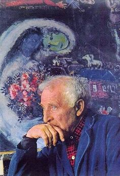 Marc Chagall endlessly in love with his love, muse and wife Bella.