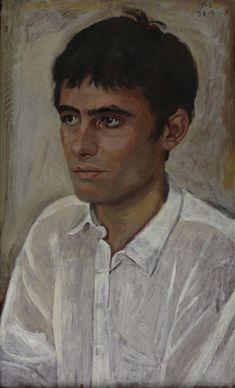 Yannis Tsarouchis - Schizophrenic France, 1968 Oil on laminated wood, 68 x Portraits, Portrait Art, Great Works Of Art, Greek Art, Art Database, Human Art, Gay Art, Portrait Inspiration, New Artists
