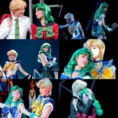 Sera Myu Sailor Moon,  Haruka Tenoh and Michiru Kaioh