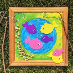 Magnetic Fishing   Felt Fish   @oliviasfoster