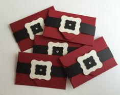 Handmade Santa Suit Gift Card Holders, Christmas, Gift Card by JuliesPaperCrafts on Etsy Christmas Gift Card Holders, Handmade Christmas Gifts, Christmas Cards To Make, Handmade Gifts, Etsy Handmade, Christmas Crafts, Gift Cards Money, Free Gift Cards, Stampin Up