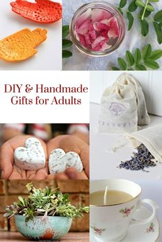 DIY & Handmade Gifts for Adults - fun ideas for all kinds of gifts, including edible, bath & beauty, home and more