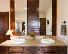 Love the wood on wall  Mediterranean Bathroom Design, Pictures, Remodel, Decor and Ideas - page 135