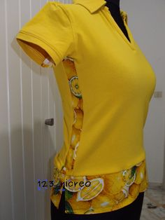 DIY maglia giallo limone come allargare e allungare - 123ricreo