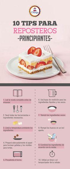 ¡Conocé los 10 tips más importantes para reposteros principiantes! ;)  #Reposteria #Bakery #TipsDeReposteria #Cake Cooking, Breakfast, Sweet, Food, Deserts, Recipes, Tortilla Pie, Sweets, Beverages