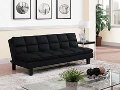 DHP Allegra Pillow-Top Futon, Black