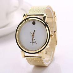 GE Elegante Ronda de oro de la aleación de la correa del reloj de las mujeres de (Oro)