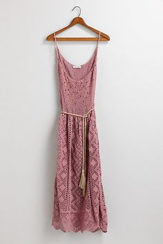 DIY sundress: rit dye vintage lace panels - stitch on thick vintage chain link necklace sections (or braided leather belt sections) for the shoulder straps.