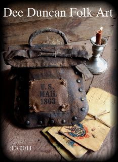 Civil War Mail Bag & Envelopes - E-Pattern