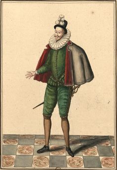 Anne, duc de Joyeuse (Gaignières 1046) -- Dessin, Fonds Gaignières [BNF Bouchot 1046] -- «Anne Duc de Joyeuse.»