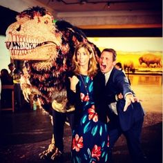 When you are at a wedding at the Natural History Museum in LA and a dinosaur shows up. #candrewwedding