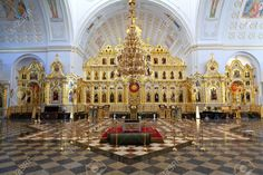Example of an Iconostasis in a Russian Orthodox church.