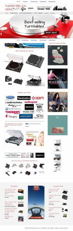 Turntables and vinyl albums store Affiliate Websites, Affiliate Marketing, Record Players, Wordpress Plugins, Turntable, Vinyl Records, How To Make Money, Ads, Album
