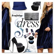 """Velvet Dress"" by jecakns ❤ liked on Polyvore featuring Armani Beauty"