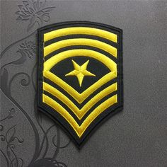 U.S.ARMY Sergeant Major Patch Embroidered Iron-On Patches sew on patches Military patch