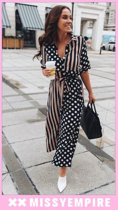 c84a7961addf7a We love it and so does Vicky Pattison! Our Tess Multi Print Belted Shirt  Dress