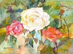Triple Entente, watercolor art by Betsy Dillard Stroud – California Watercolor Watercolor Logo, Watercolor Artists, Watercolor Paper, Watercolor Paintings, Triple Entente, California Art, Artwork Prints, Contemporary Artists, Giclee Print